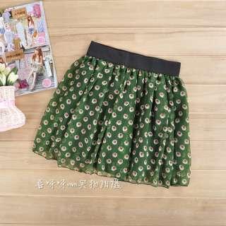 Womens Girls Retro Fresh Sweet Saika Pleated Chiffon Short Dress Mini