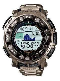 Casio Protrek Solar Power PRG 250T 7 Titanium Mens Watch