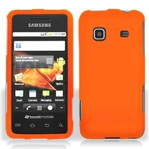 Rubber Orange Rubberized HARD Case Snap on Phone Cover Samsung Galaxy