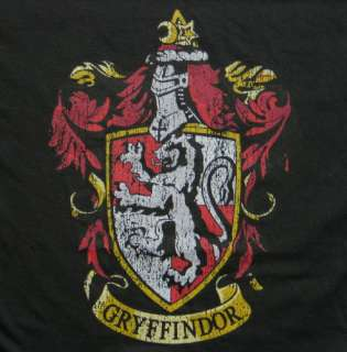 Harry Potter House of Gryffindor Crest Logo T Shirt XL