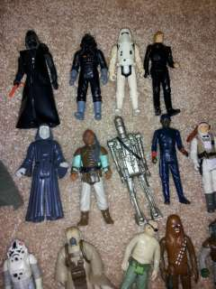 Lot of Star Wars Action Figures and C3P0 Case and Jabba the Hutt
