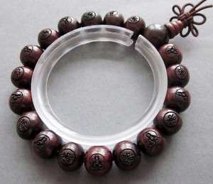 Wood Buddha Beads Tibet Buddhist Paryer Bracelet Mala