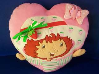 Strawberry Shortcake HEART PILLOW Plush 15 CUTE