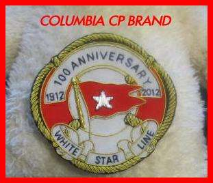WHITE STAR LINE BADGE NEW TITANIC 100 ANNIVERSARY BADGE