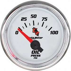 Auto Meter 7127 C2 Short Sweep Electric Oil pressure Gauge Automotive