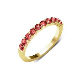 0.75cttw Natural Round Red Garnet (AA+ Clarity,Red Color