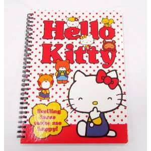 Kitty Hard Cover Full Size Note Book approx 8x11