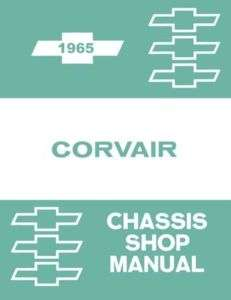 1965 CHEVROLET CORVAIR Shop Service Repair Manual Engine Drivetrain