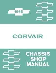 1965 CHEVROLET CORVAIR Shop Service Repair Manual Engine Drivetrain