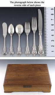 81pc WALLACE GRANDE BAROQUE STERLING SILVER FLATWARE SE