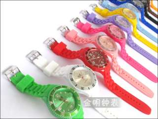 top brand 11 colors ice watch fashion jelly watch with Calendar