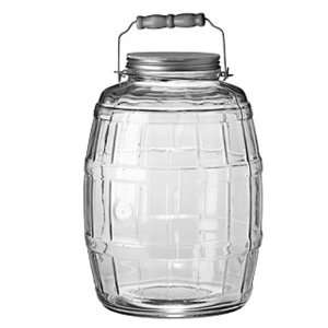 Hocking 85679 2 1/2 Gallon Glass Barrel Jar with Brushed Aluminum Lid