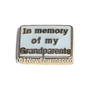 In Memory Of My Grandparents Floating Locket Charm Jewelry