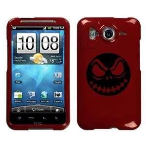 HTC INSPIRE 4G BLACK JACK SKELLINGTON ON A RED HARD CASE