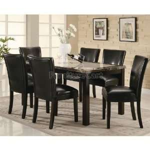 Coaster Furniture Carter Dining Room Set with Black Chairs