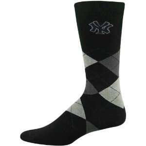 MLB New York Yankees Black Argyle Dress Socks
