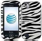 Pantech Laser P9050 BLACK WHITE ZEBRA Faceplate Protector Phone Case
