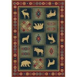 Bear and Wolf Dakota Rug: Home & Kitchen