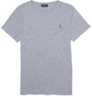 Clothing  T shirts  Crew necks  Anchor Print T Shirt