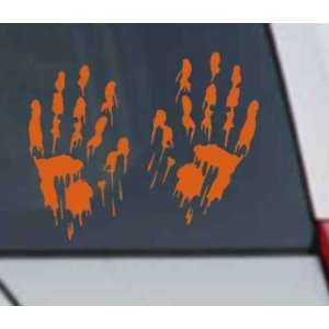 Bloody Hand Prints Decal Zombie Car Vinyl Sticker LARGE
