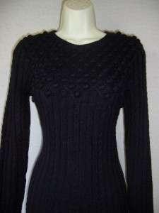 JESSICA HOWARD Navy Blue Long Sleeve Empire Sweater Dress S 4 6 NWT