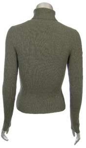 Sutton Studio Womens Cashmere Ribbed Turtleneck Sweater