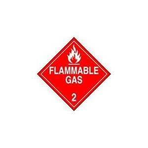 PT# MPL202VP50 Flammable Gas 2 Sign by Accuform Signs Pkg