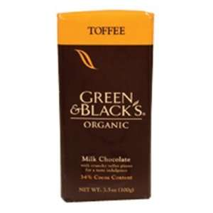 Milk Chocolate Toffee Organic (10 Bars) 3.50 Ounces