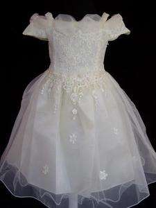 Girl Party Bridesmaid Wedding Pagent Dress Pink,Ivory,White,18Mth 5Ye