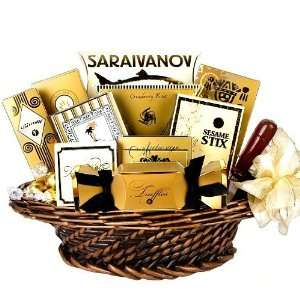 Good as Gold Gourmet Snack Food Basket   Great Mothers Day Gift Idea