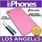 pink black frame iphone 4 back glass cover verizon cdma flash diffuser