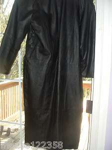 Womens Long Leather Coat size S Marco Morani New York