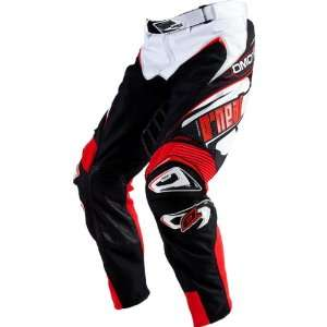 Mens Off Road Motorcycle Pants   White/Red / Size 36 Automotive