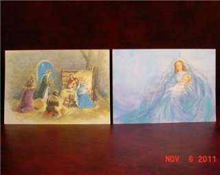 VINTAGE UNUSED RELIGIOUS CHRISTMAS CARDS AMERICAN GREETINGS FORGET ME