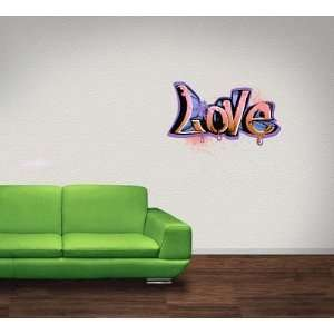 Love Graffiti Wall Decal Sticker Graphic By LKS Trading