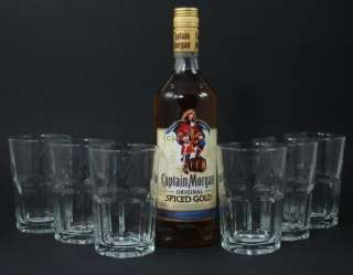 Captain Morgan Spiced Gold + 6 Gläser 0,7 L 35%