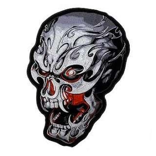 Aufnäher Patch Electric Skull Harley Davidson Motorrad