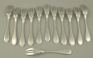 1900 ANTIQUE FRENCH STERLING SILVER FLATWARE SET 159 PCS ART DECO