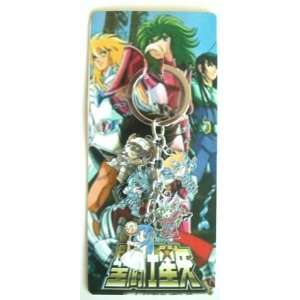 Anime Saint Seiya 5 in 1 Metal Charm Key Chain ~Cosplay
