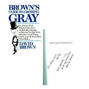 David Brown Autographed / Signed Browns Guide to Growing