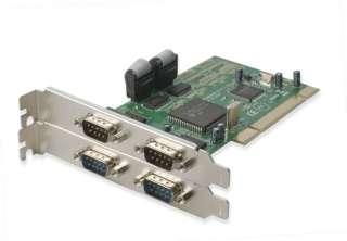 Add 4 Serial (DB9, RS232) ports to desktop PC, PCI card
