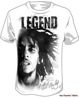 Licensed Bob Marley Legend Adult Shirt M XXXL |