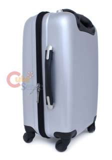 Sanrio Hello Kitty Trolley Bag Emblms Luggage Silver Metal 4