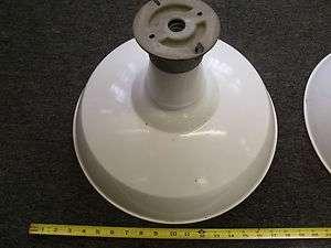 ESTATE VINTAGE SET OF 3 PORCELAIN GAS PUMP SERVICE STATION LAMPS 110V