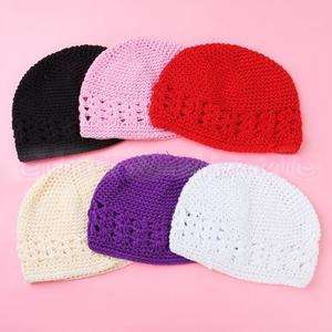 6pcs Baby Toddler Kid Crochet Beanie Cap Hat Wholesale