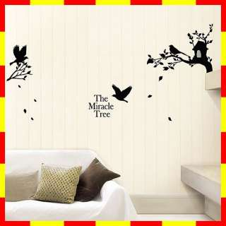 GS 801 TREE BIRD Graphic Wall Art Decor Decals Sticker