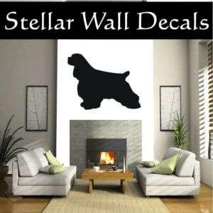 Cocker Spaniel 2 Dog Wall Car Vinyl Decal Sticker