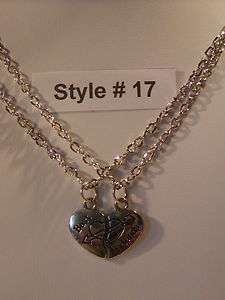 Necklace Set Rhodium Plated Love Friendship Best Friends NEW