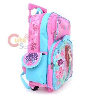 Disney Princess Mermaid Ariel School Roller Bakcpack Ocean Beauty Bag
