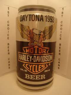 HARLEY DAVIDSON MOTOR CYCLES DAYTONA 1993 STAY TAB BEER CAN EAGLE J